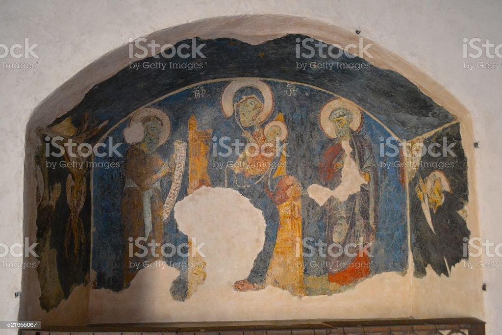 Bologna, Italy. Inside old church stock photo