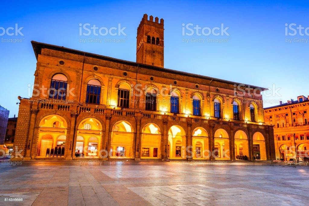 Bologna, Italy - Palazzo del Podesta stock photo