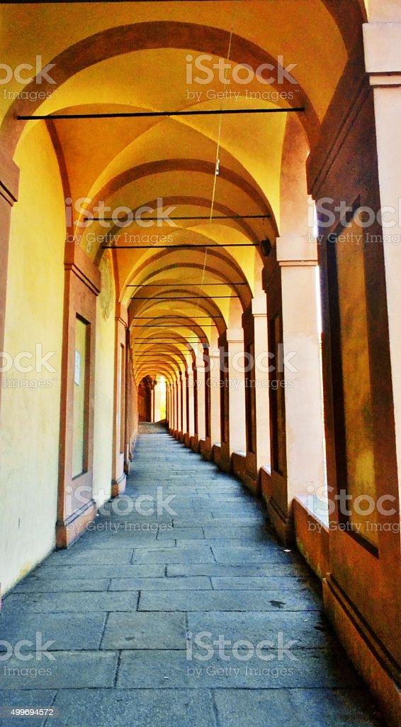 Bologna, Italy. San Luca stock photo