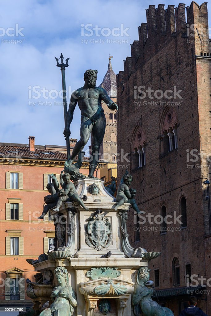 Bologna, Italy, statue of Neptune stock photo