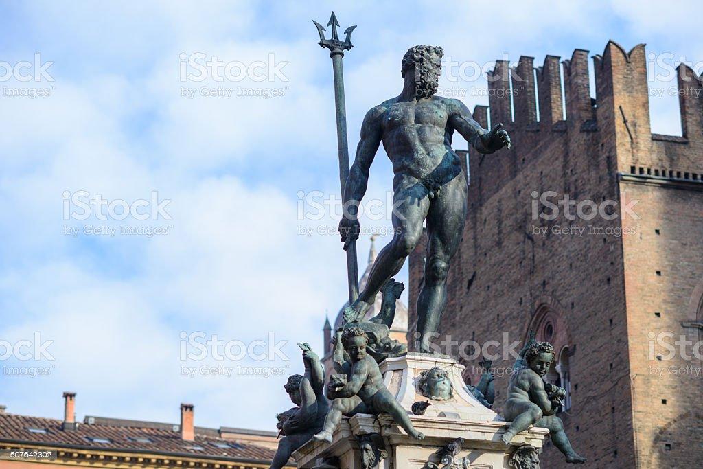 Bologna, Italy, statue of Neptune stock photo