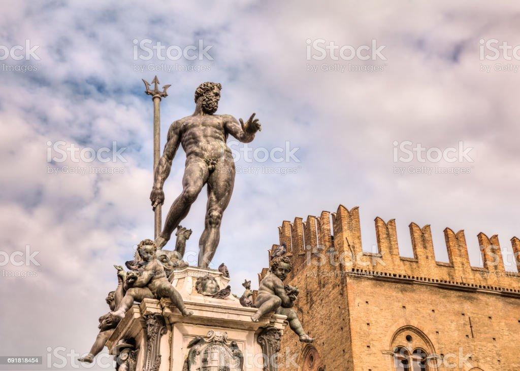 Bologna, Italy - Statue of Neptune stock photo