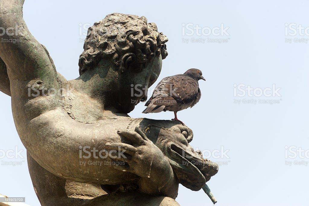 Bologna (Emilia-Romagna, Italy) Neptune's bronze statue, detail royalty-free stock photo