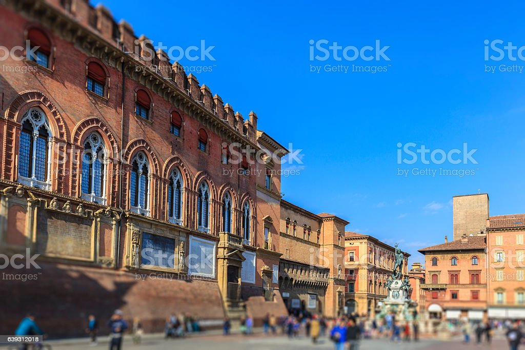 Bologna, Piazza Maggiore - Emilia Romagna, Italy stock photo
