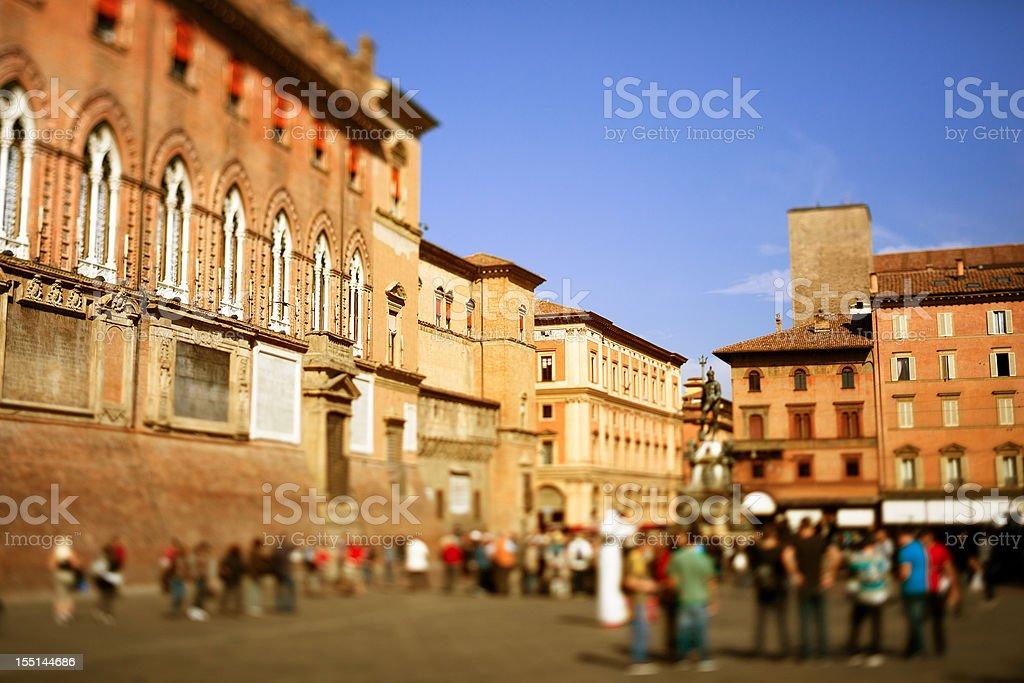 Bologna, Piazza Maggiore stock photo