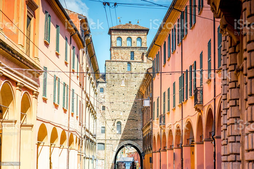 Bologna street view stock photo