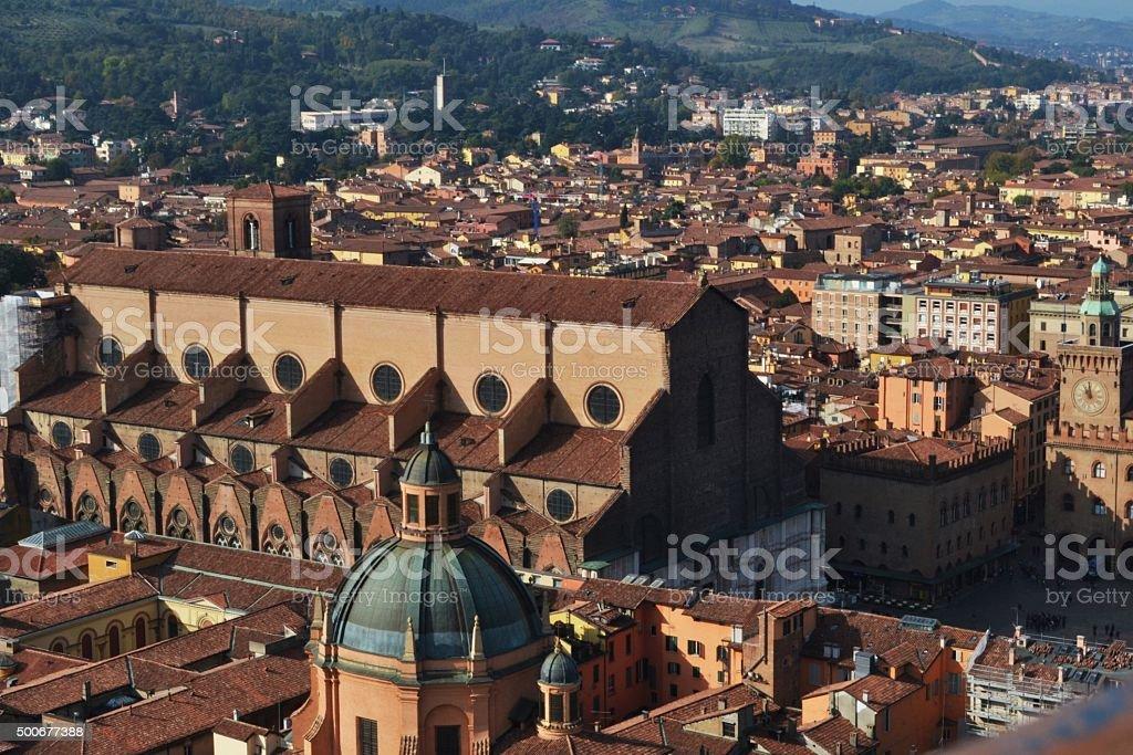 Bologna vista dalla Torre degli asinelli stock photo
