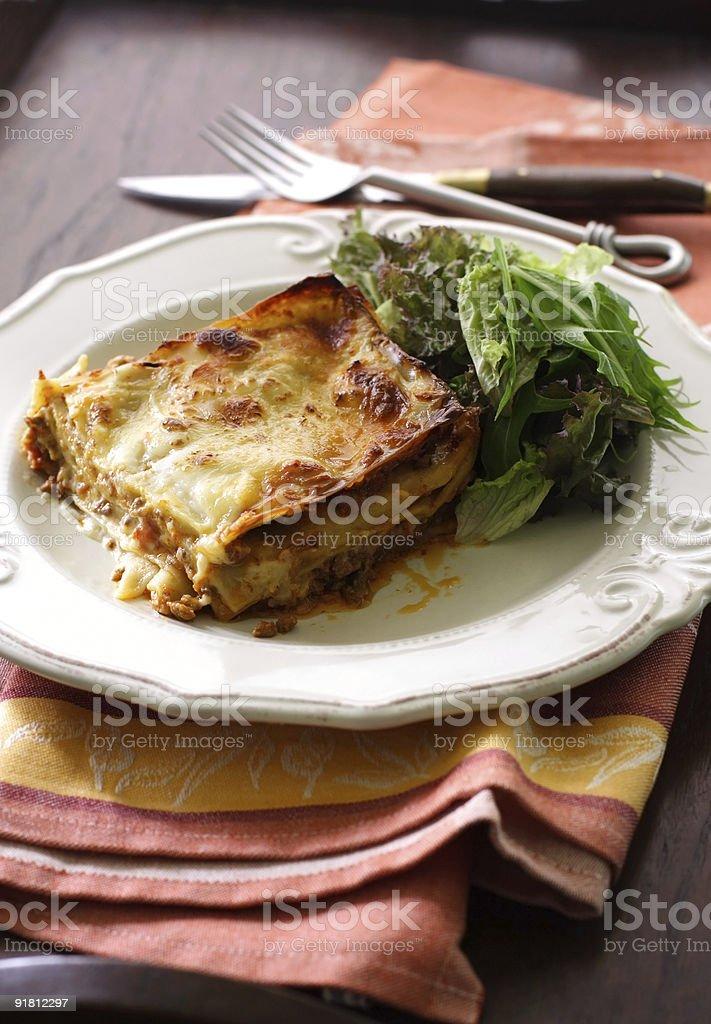bolognese lasagna royalty-free stock photo