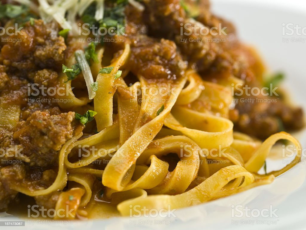Tagliatelle Bolognese royalty-free stock photo