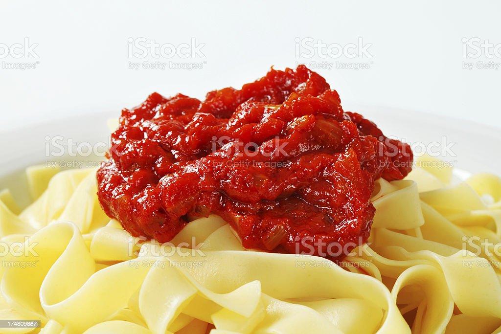 bolognese tagliatelle stock photo