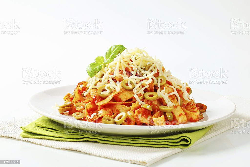 bolognese tagliatelle royalty-free stock photo