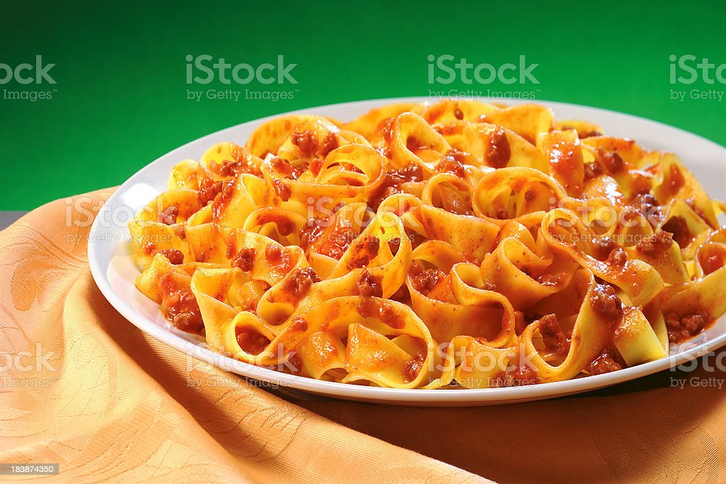 bolognese pasta stock photo