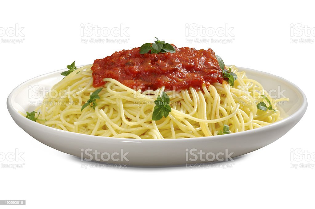Bolognese Sauce Spagetti stock photo