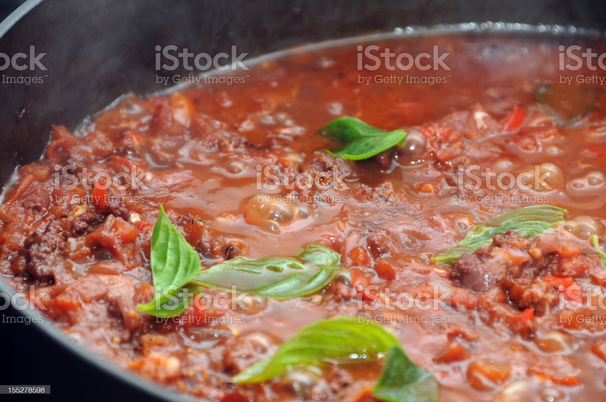 Spaghetti bolognese royalty-free stock photo
