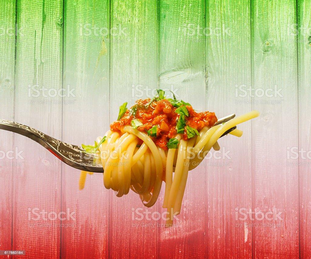 Bolognese Spaghetti stock photo