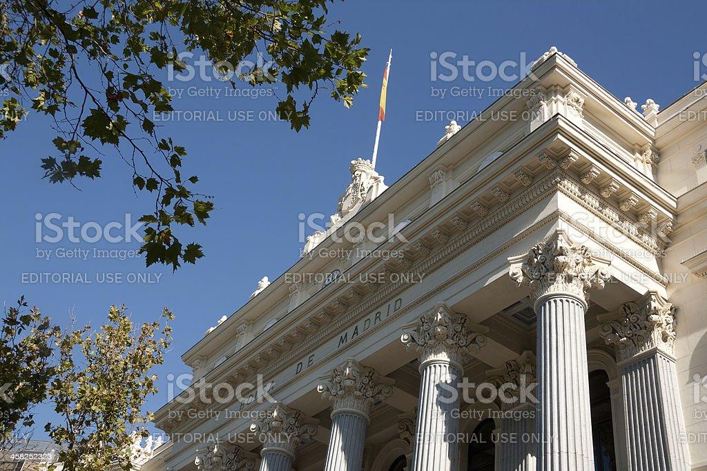 Bolsa de Madrid facade - Sign on main entrance royalty-free stock photo