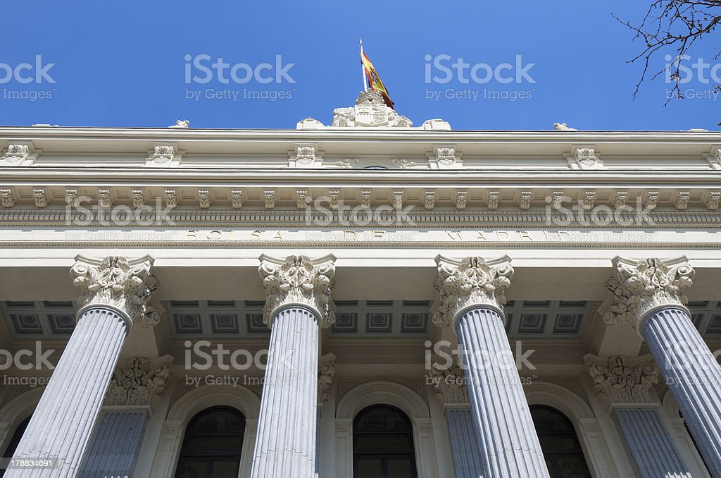 Bolsa de Madrid stock photo