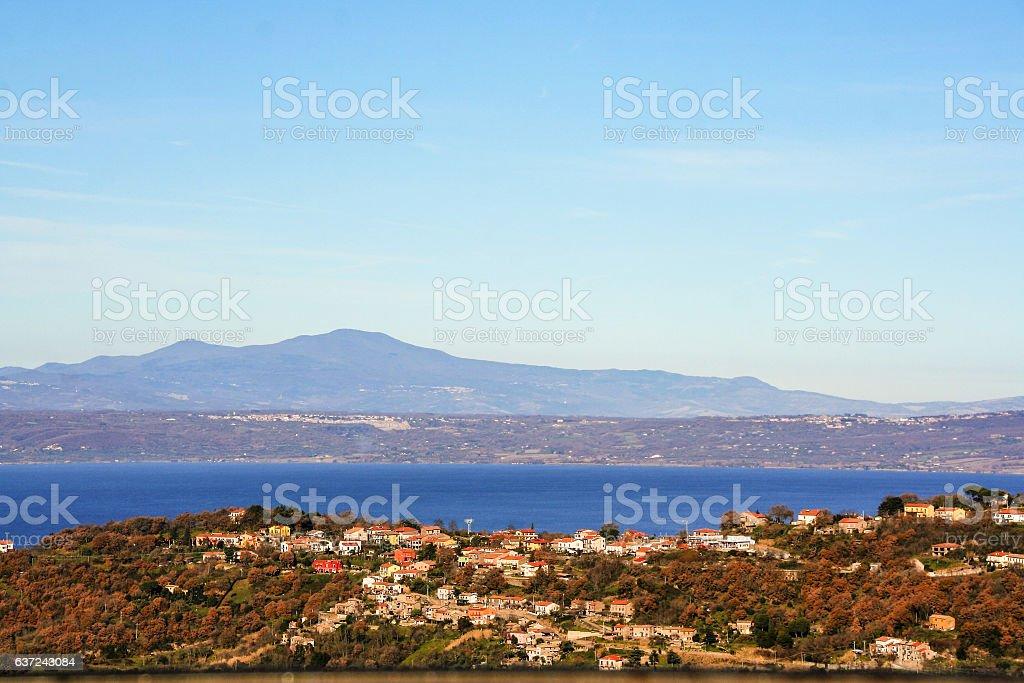 bolsena lake , Lazio, Italy stock photo
