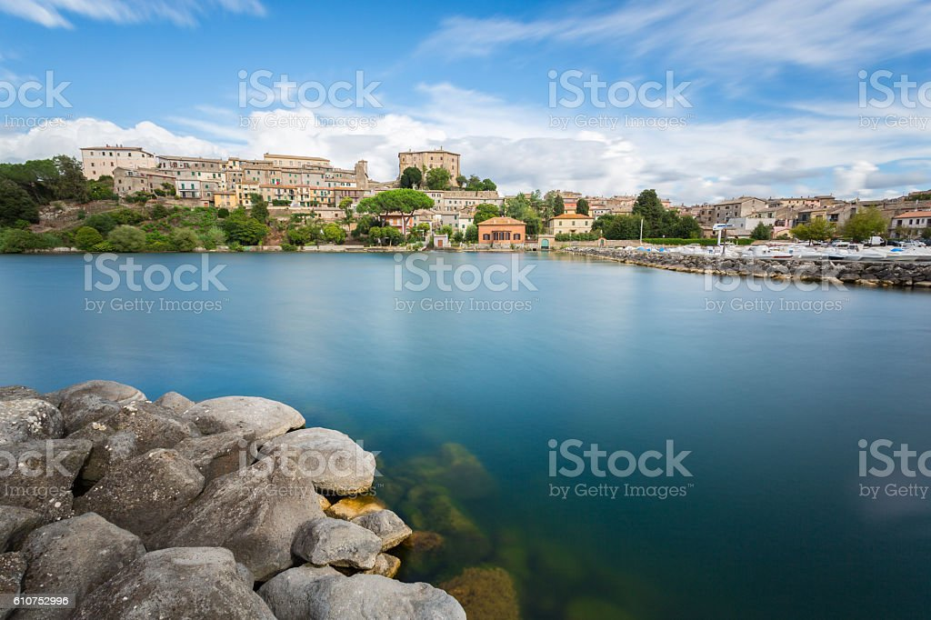 Bolsena lake - View from Capodimonte stock photo