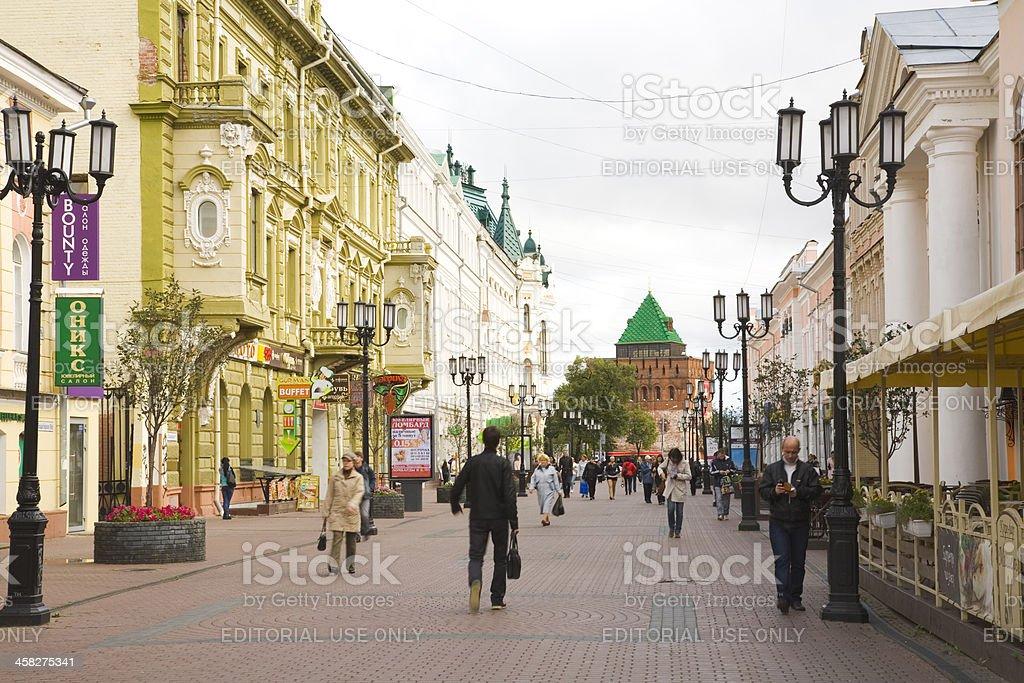 Bolshaia Pokrovskaia Street in Nizhny Novgorod stock photo