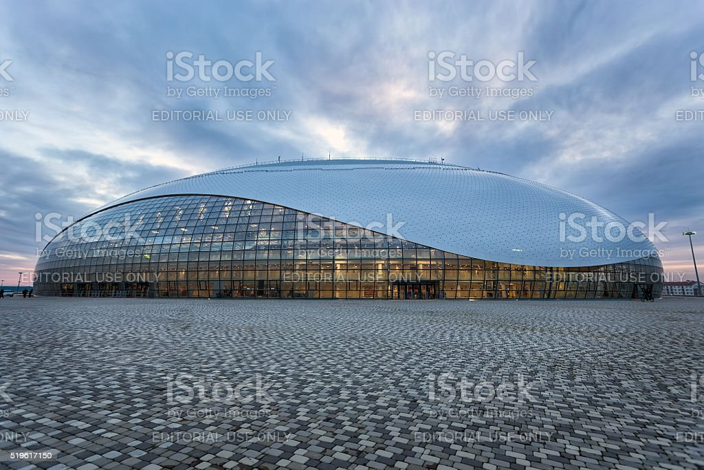 Bolshoy Ice Dome. Olympic Park in Sochi, Russia stock photo
