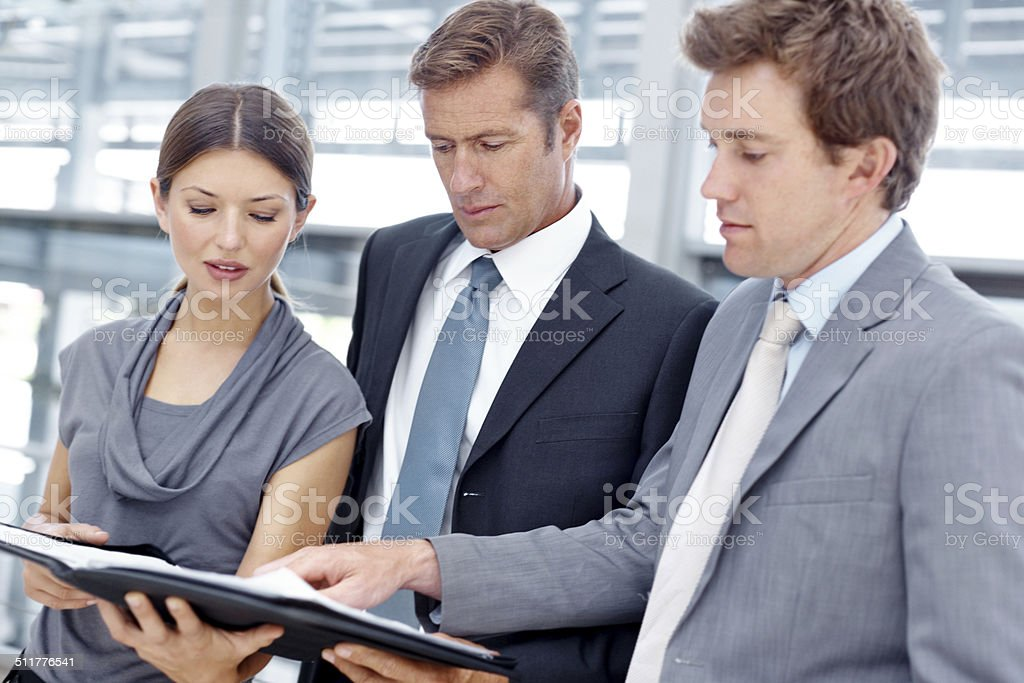 Bolstering their business brief stock photo