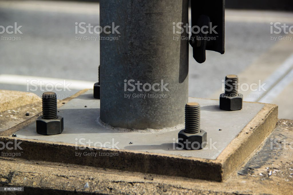 bolt and plate stock photo