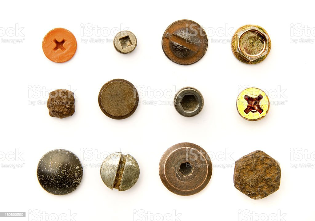 Bolt Heads and Fasteners royalty-free stock photo