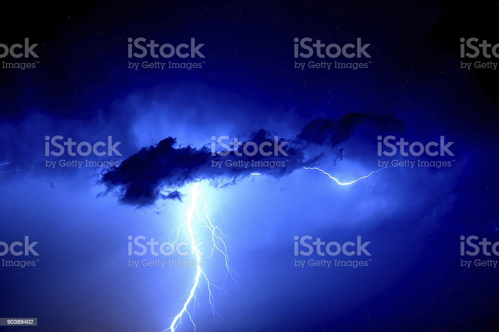 Bolt Out Of The Blue royalty-free stock photo