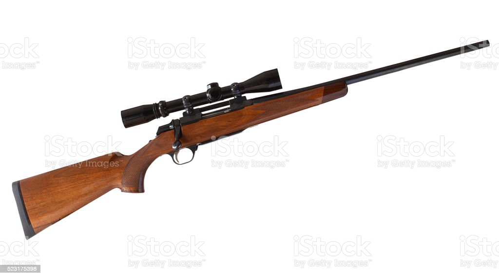 Bolt rifle stock photo