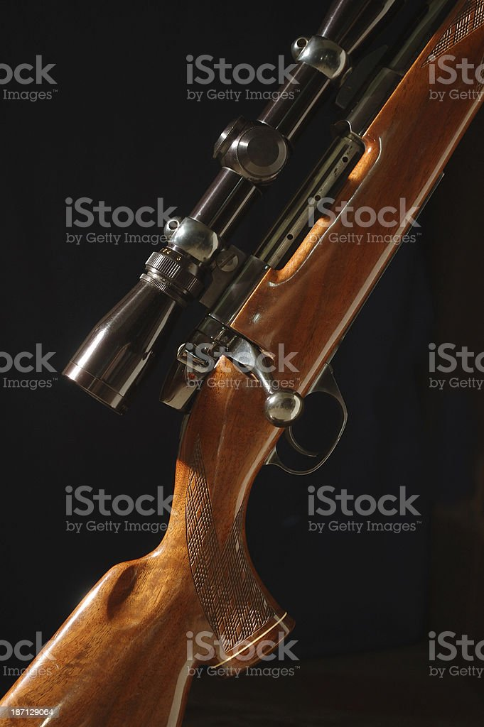 Bolt-action Rifle with Scope royalty-free stock photo
