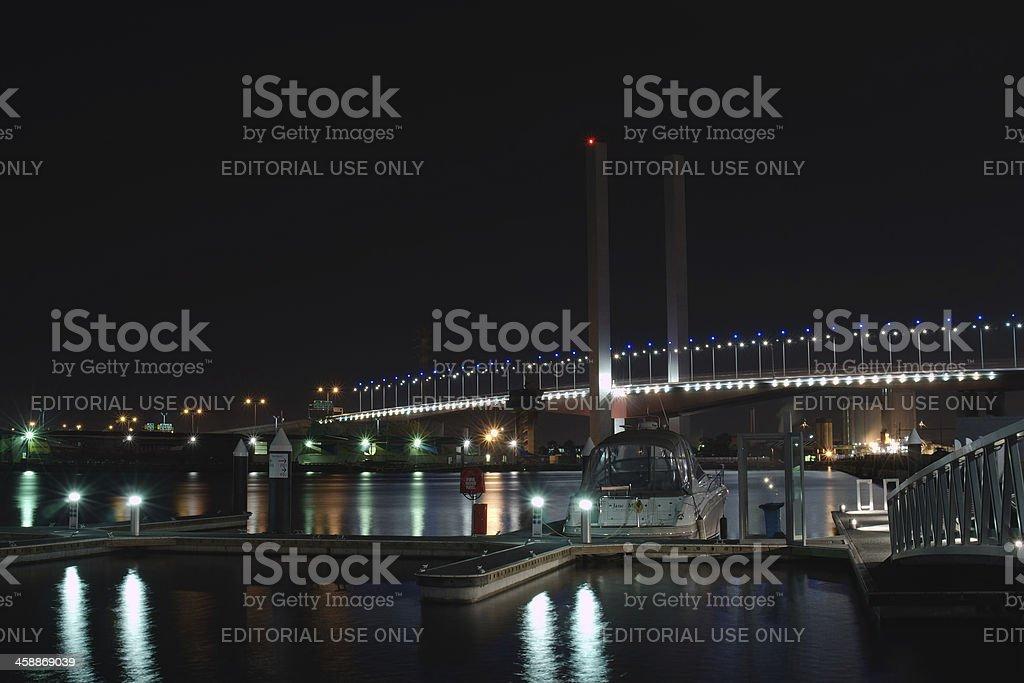 Bolte Bridge and pier royalty-free stock photo