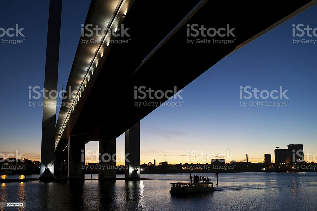 Bolte Bridge at Dusk stock photo