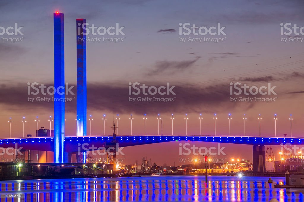 Bolte Bridge, Docklands stock photo