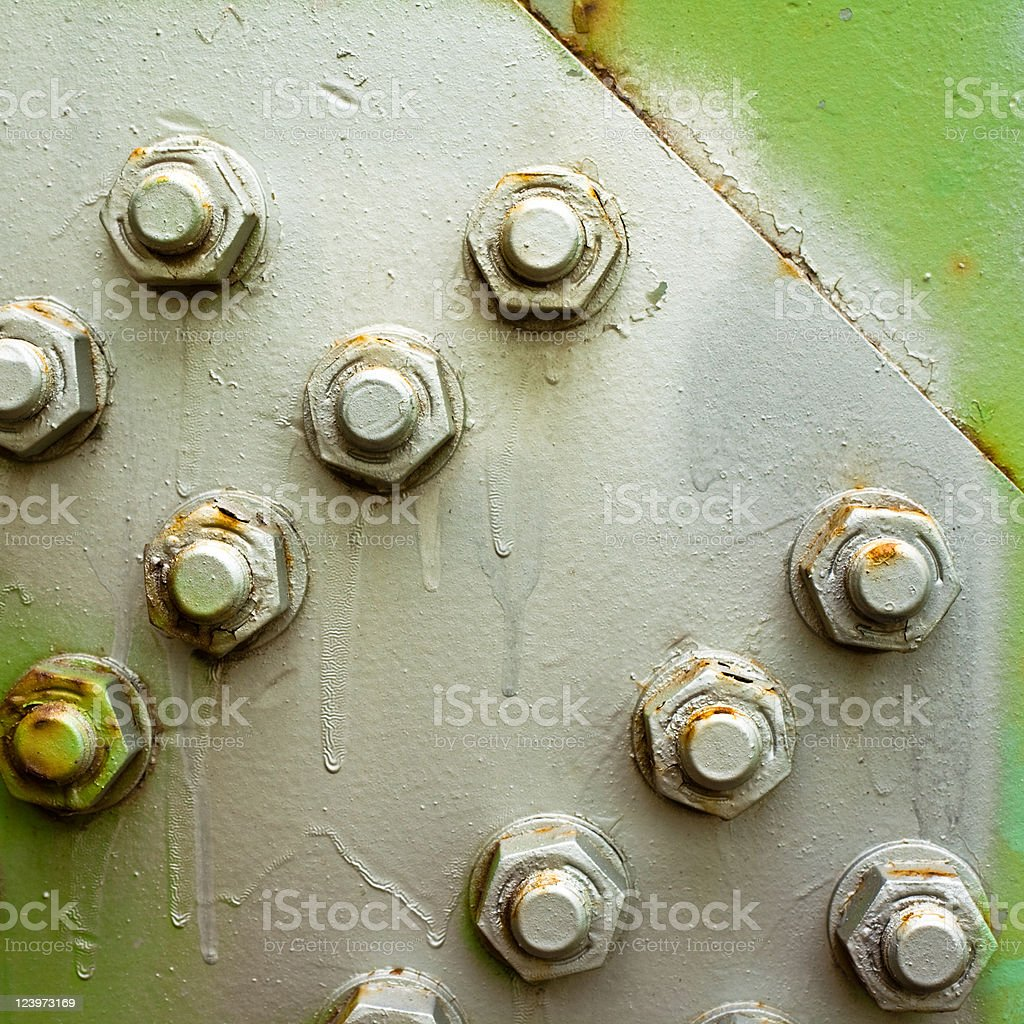 bolted steel background pattern royalty-free stock photo