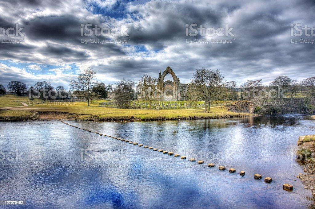 Bolton Abbey, North Yorkshire, England royalty-free stock photo