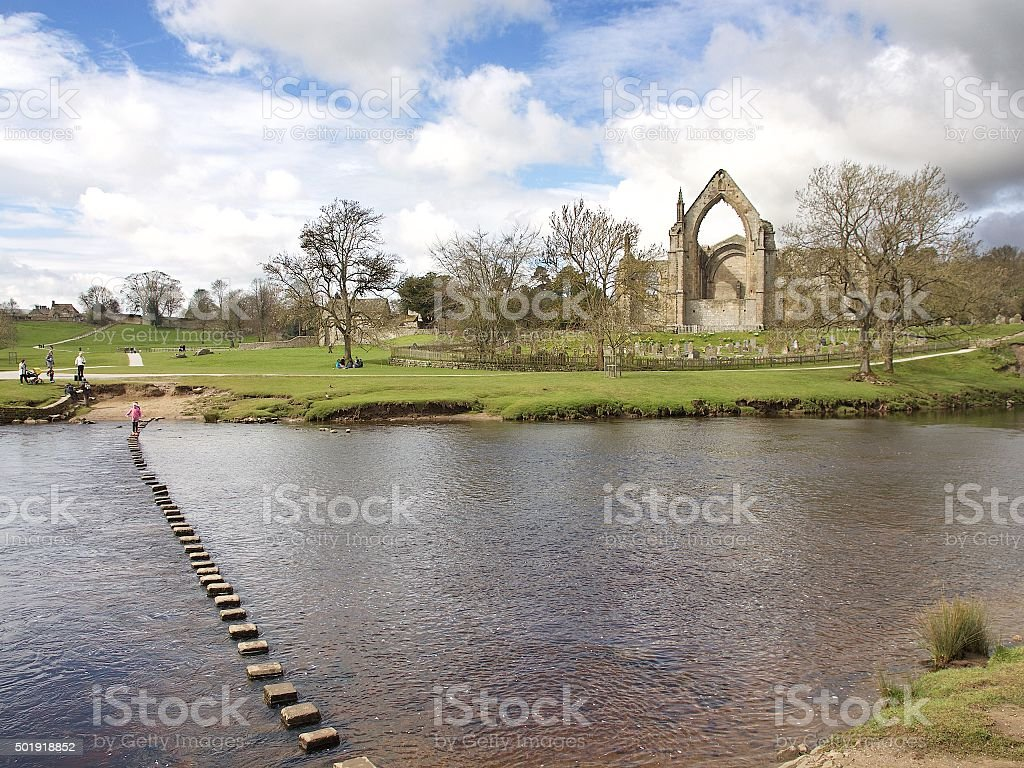 Bolton Abbey, North Yorkshire stock photo