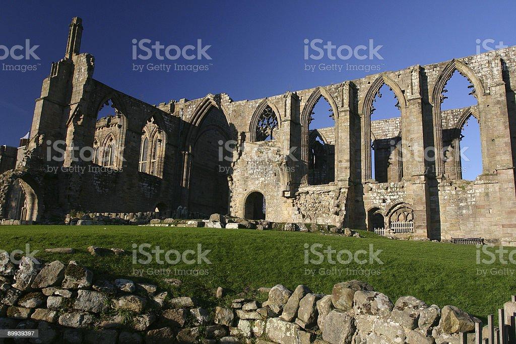 Bolton Abbey ruin church, Yorkshire, England stock photo