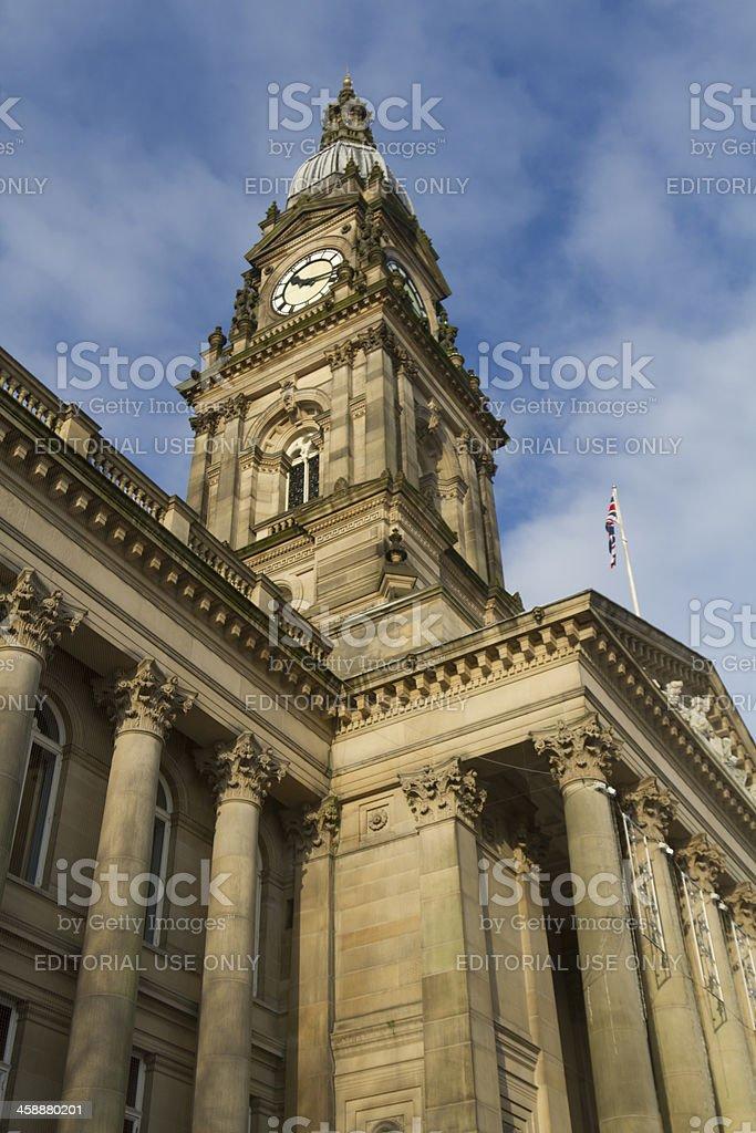 Bolton Town Hall Clock stock photo