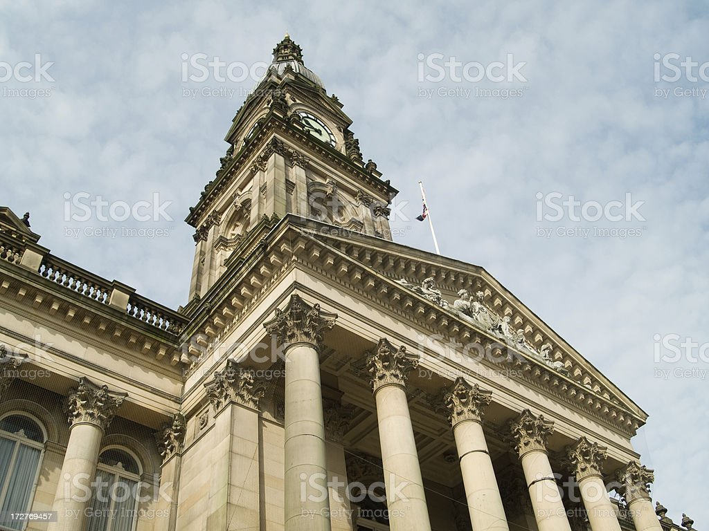 Bolton town hall stock photo
