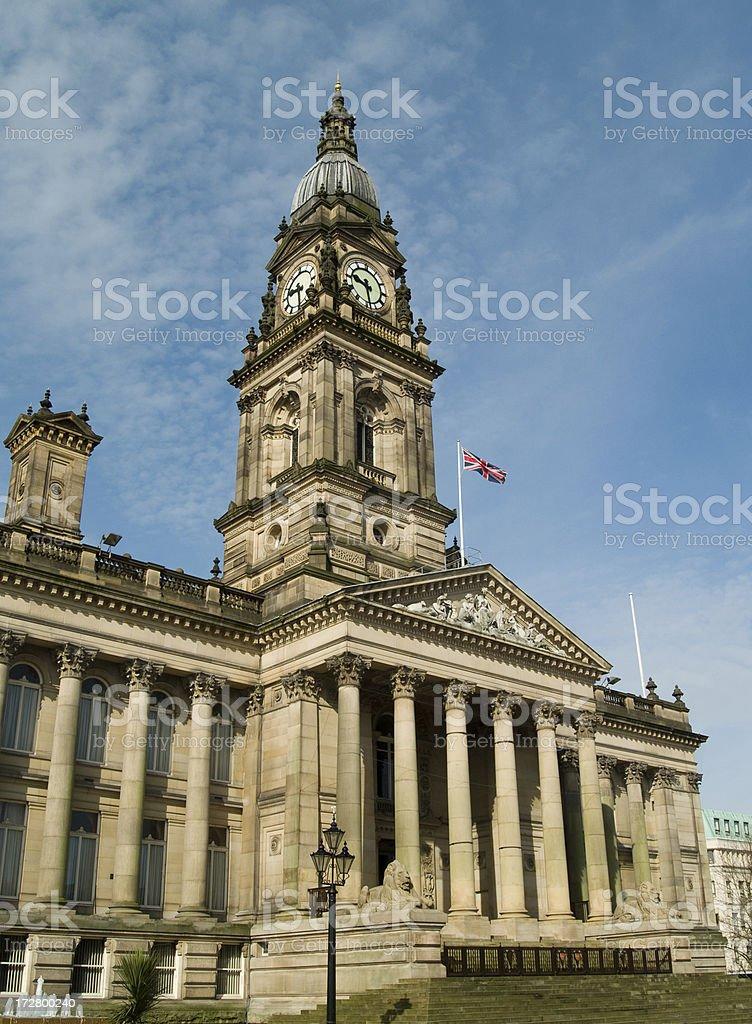 Bolton town hall stock photo