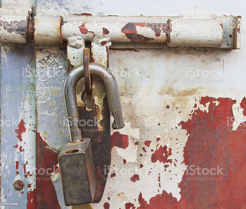 Bolts and Key royalty-free stock photo