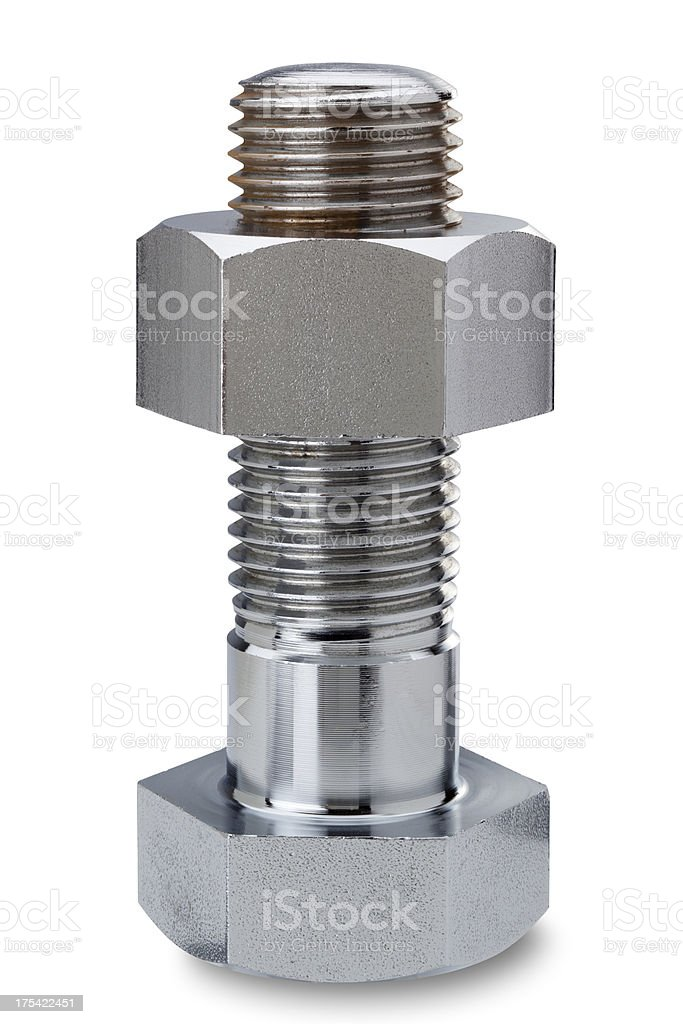 bolts and nuts (with clipping path) stock photo