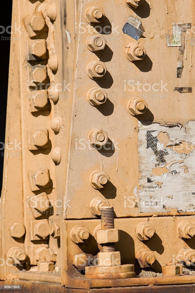 Bolts in the sun royalty-free stock photo