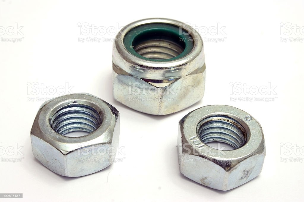 Bolts, nuts (Close-Up) stock photo