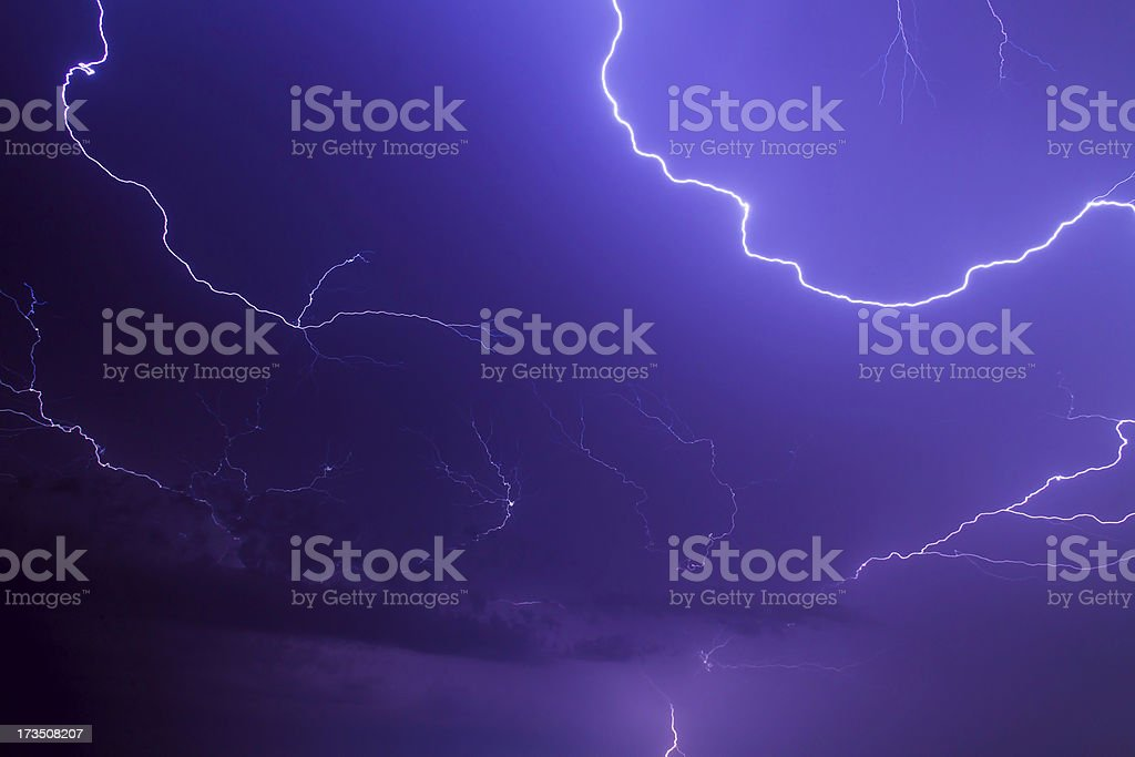 Bolts of Lightning royalty-free stock photo