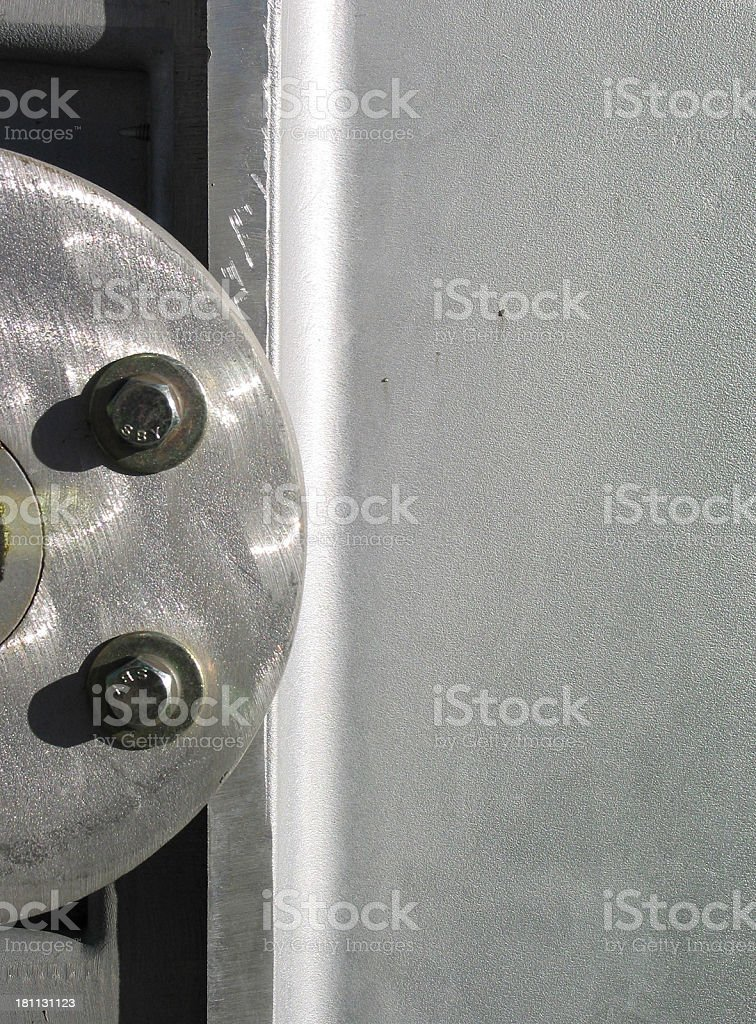 Bolts on STEEL royalty-free stock photo