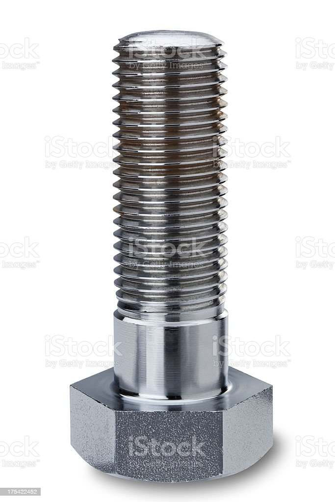 bolts (with clipping path) stock photo