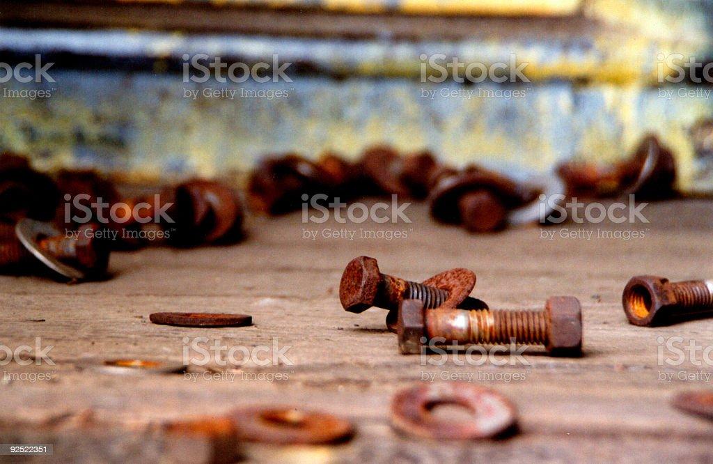 Bolts stock photo