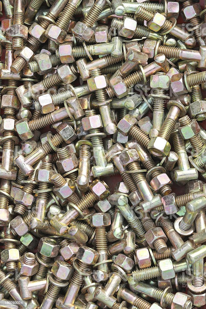 Bolts with nuts royalty-free stock photo
